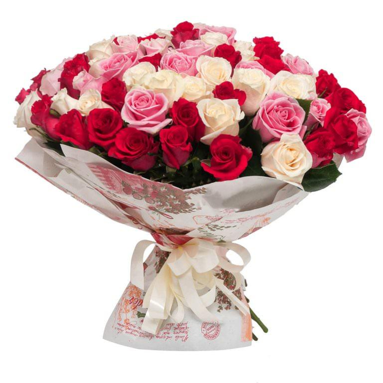 фото букет оформлен красиво розы для детей идея